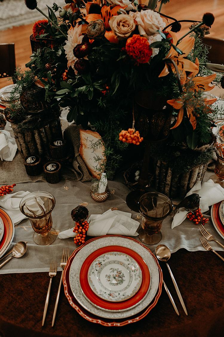 fall weddings with orange