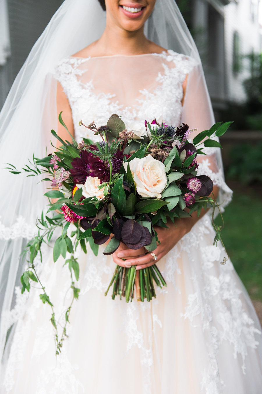 Deep Magenta and Gold New England Wedding Inspiration - photo by Catherine Threlkeld Photography http://ruffledblog.com/deep-magenta-and-gold-new-england-wedding-inspiration