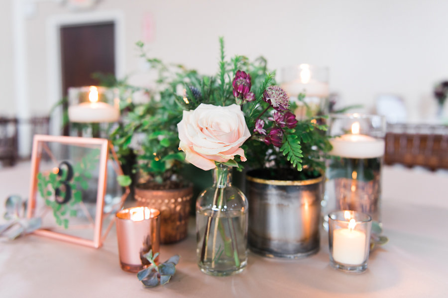 Deep Magenta and Gold New England Wedding Inspiration - photo by Catherine Threlkeld Photography https://ruffledblog.com/deep-magenta-and-gold-new-england-wedding-inspiration