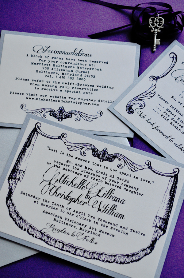 Victorian Wedding Invitation By Vintage Invites Dot Com Ruffled