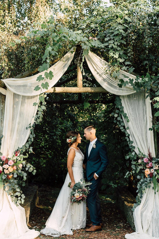 A california garden wedding with romantic florals photo by plum garden weddings junglespirit Image collections