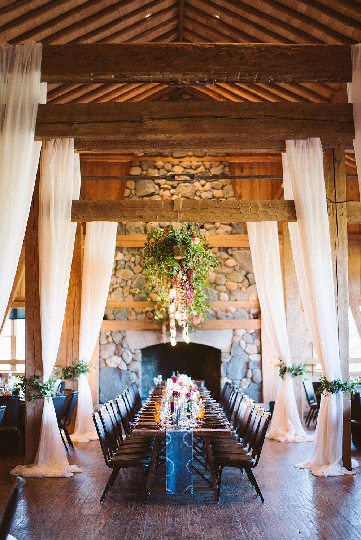 industrial constellation inspired wedding reception