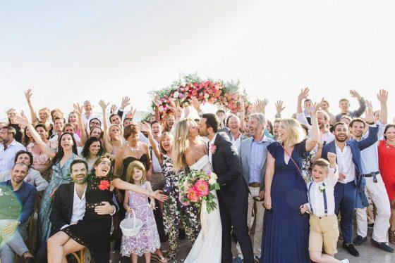 Colorful Al Fresco Destination Wedding in Mykonos