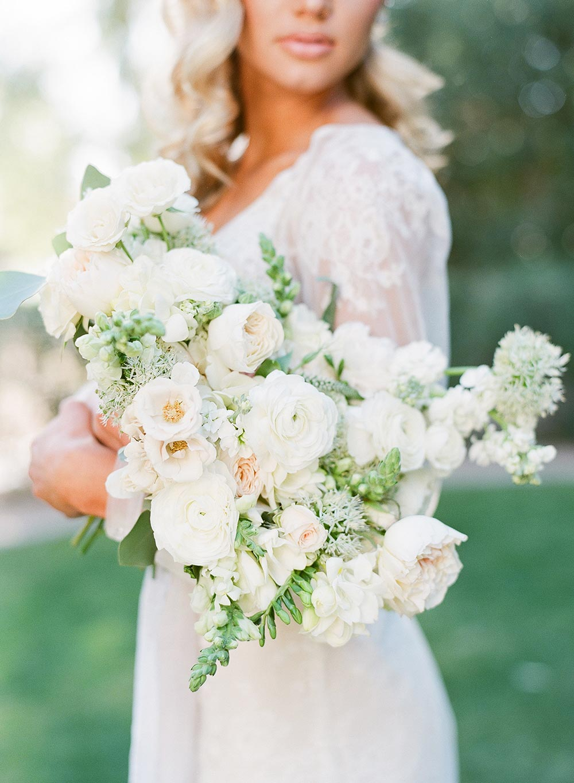 english garden bridal bouquet