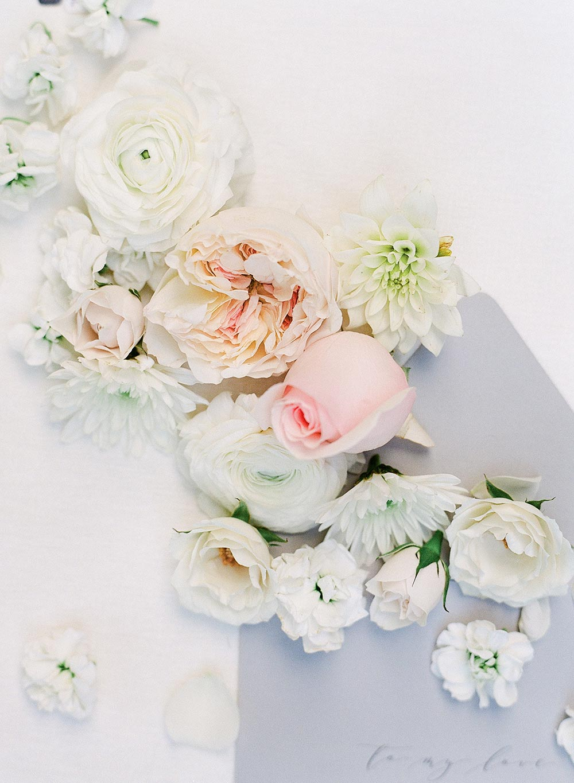 english garden blooms wedding stationery