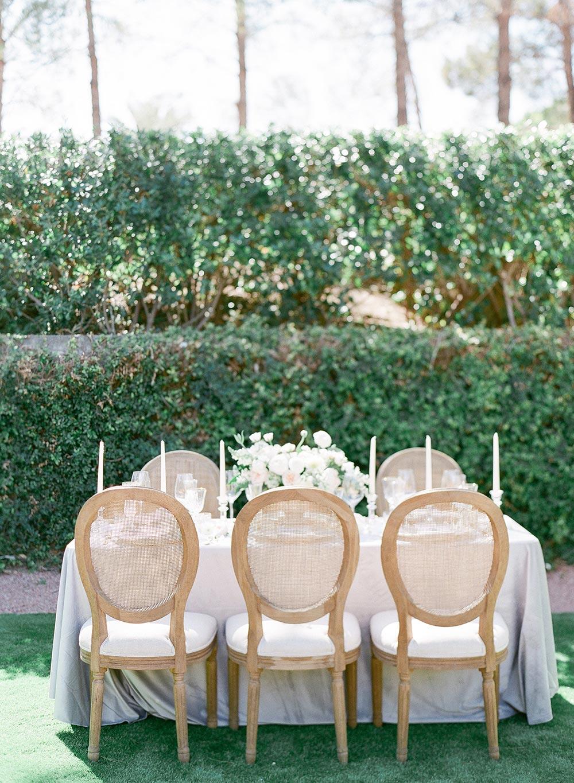 intimate garden wedding tablescape lush grey velvet table linen