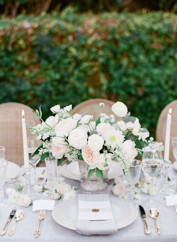 lush english garden wedding centerpiece