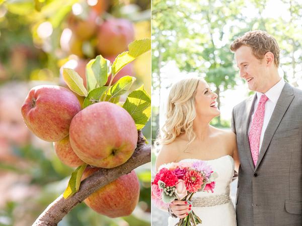 Vermont apple orchard wedding
