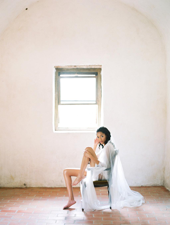 boudoir bridal inspiration - photo by Charla Storey https://ruffledblog.com/architectural-san-antonio-mission-wedding-inspiration