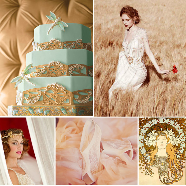 art nouveau wedding dress. flower guide art nouveau wedding dress
