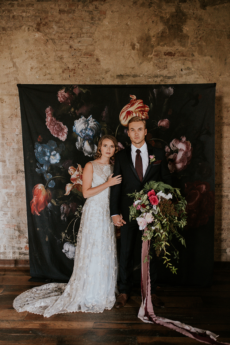 Artist Inspired Wedding Ideas with Oxblood and Navy - https://ruffledblog.com/artist-inspired-wedding-ideas-with-oxblood-and-navy
