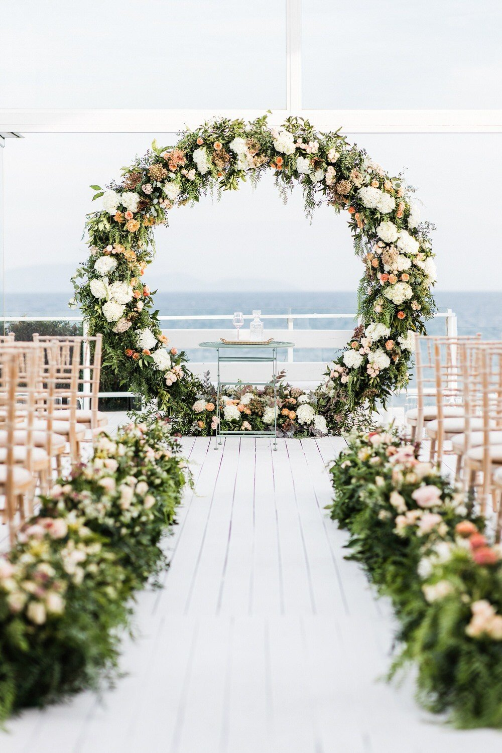Large circle ceremony backdrop