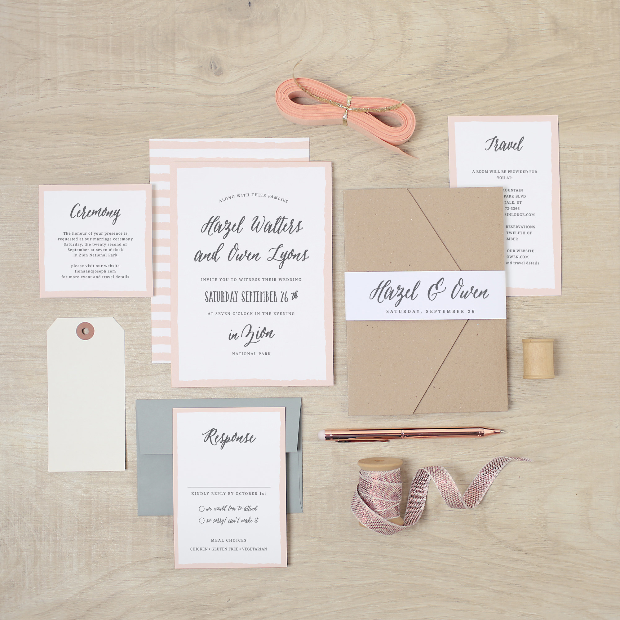 Basic Invite Wedding Invitations Ruffled