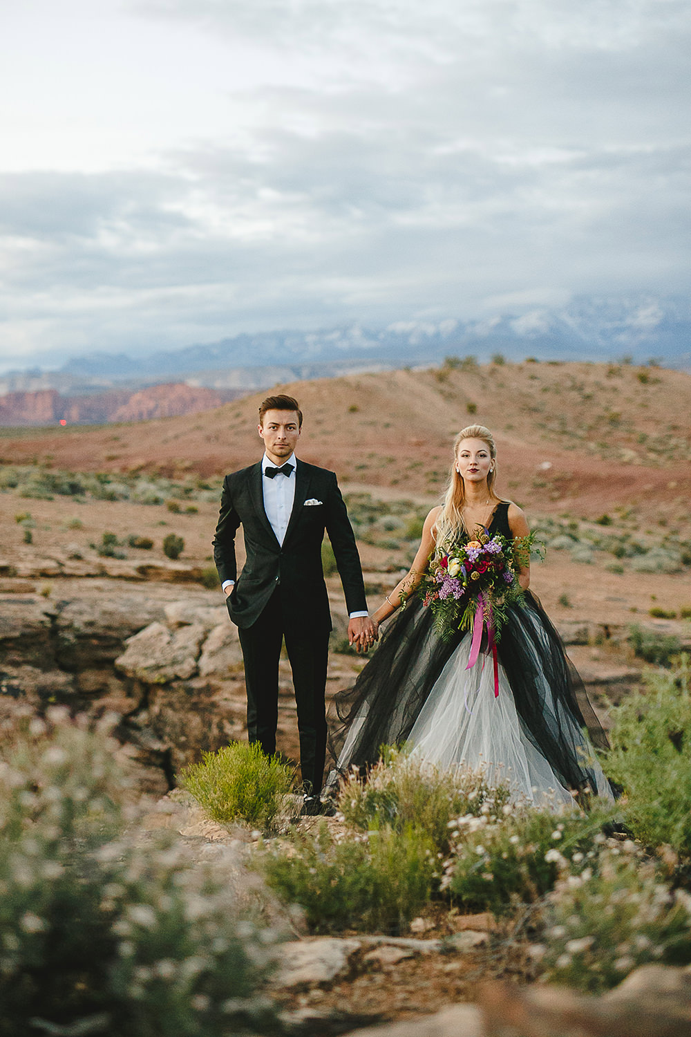 desert weddings - https://ruffledblog.com/bejeweled-wedding-inspiration-with-a-black-and-white-gown