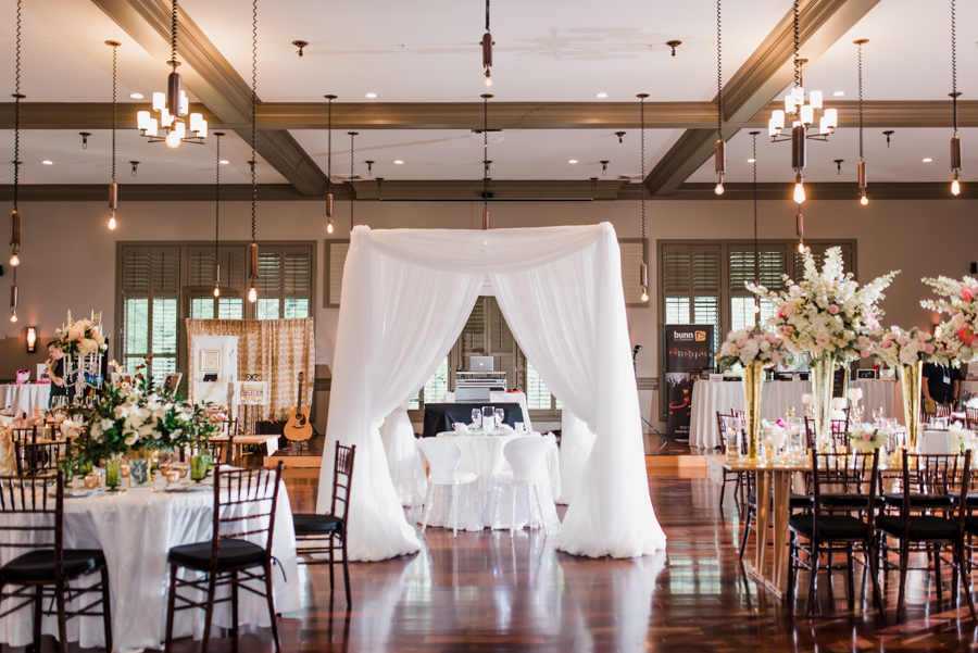 tented sweetheart tables - photo by Maggie Mills Photography https://ruffledblog.com/romantic-southern-wedding-inspiration-in-charlotte