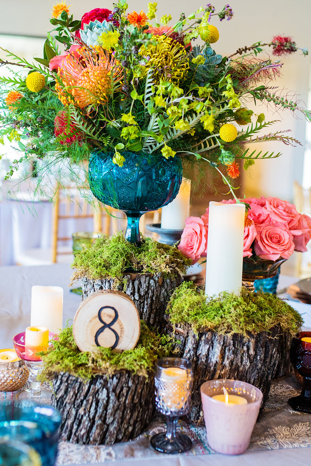 Fun and Colorful Wedding Inspiration with Paper Flowers - photo by Sarah Kathryn Portrait Design http://ruffledblog.com/fun-and-colorful-wedding-inspiration-with-paper-flowers
