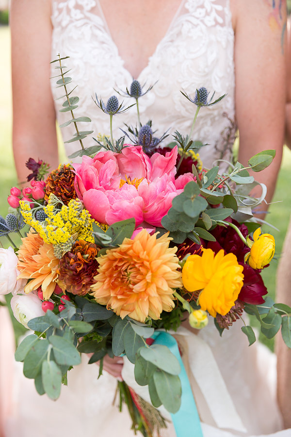 Fun and Colorful Wedding Inspiration with Paper Flowers - photo by A Many-Splendored Thing Photography http://ruffledblog.com/fun-and-colorful-wedding-inspiration-with-paper-flowers
