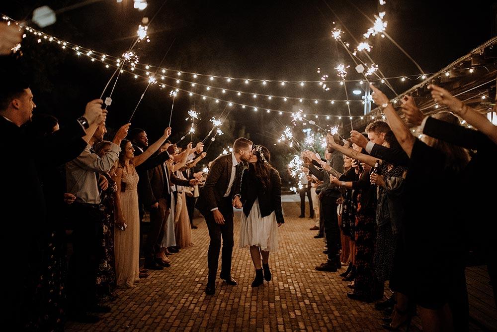 philadelphia terrain wedding sparkler exit