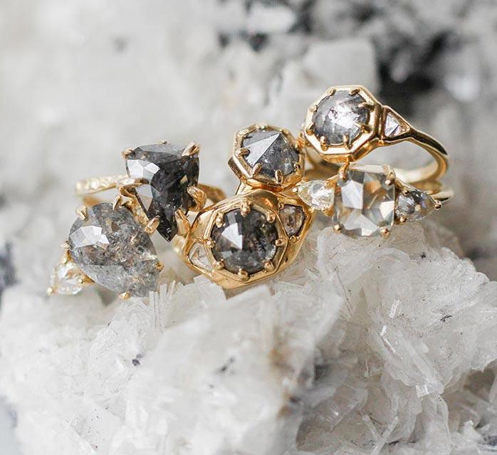 Black Diamond Engagement Ring Roundup 11