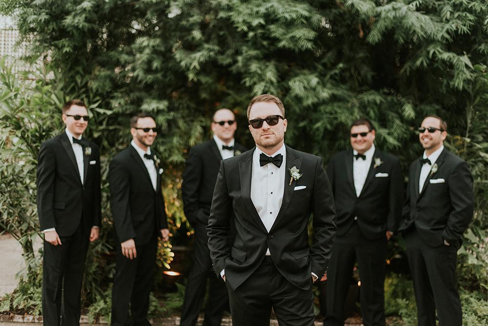 groomsmen style - photo by M2 Photography http://ruffledblog.com/black-tie-philadelphia-wedding-with-a-boho-twist