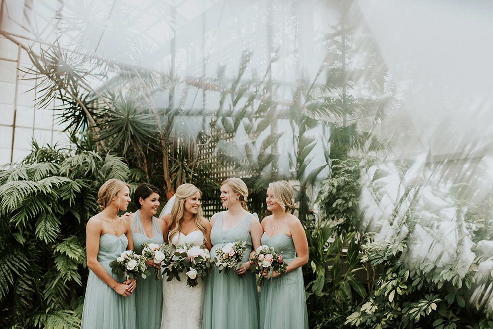seafoam bridesmaid dresses - photo by M2 Photography https://ruffledblog.com/black-tie-philadelphia-wedding-with-a-boho-twist