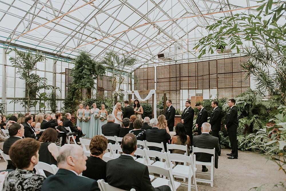 wedding ceremonies - photo by M2 Photography http://ruffledblog.com/black-tie-philadelphia-wedding-with-a-boho-twist