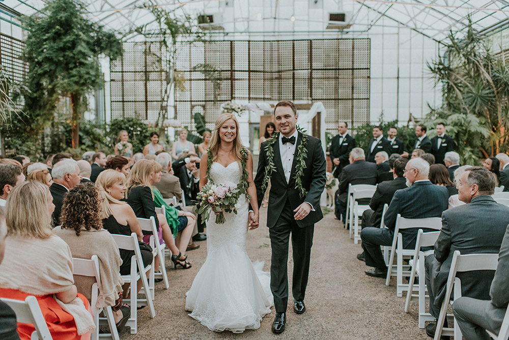 ceremony recessionals - photo by M2 Photography https://ruffledblog.com/black-tie-philadelphia-wedding-with-a-boho-twist