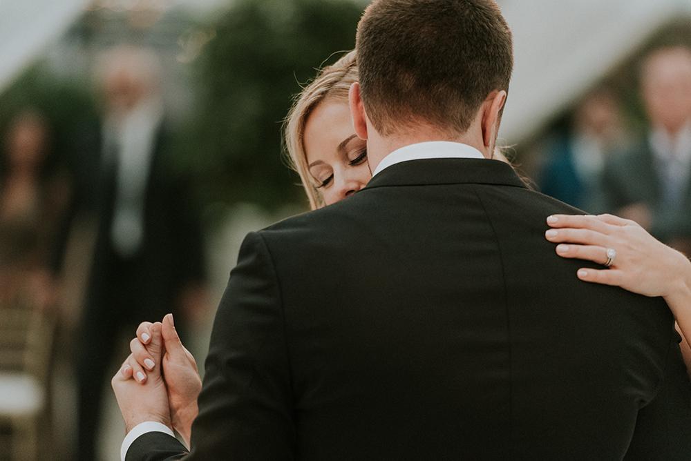 first dances - photo by M2 Photography http://ruffledblog.com/black-tie-philadelphia-wedding-with-a-boho-twist