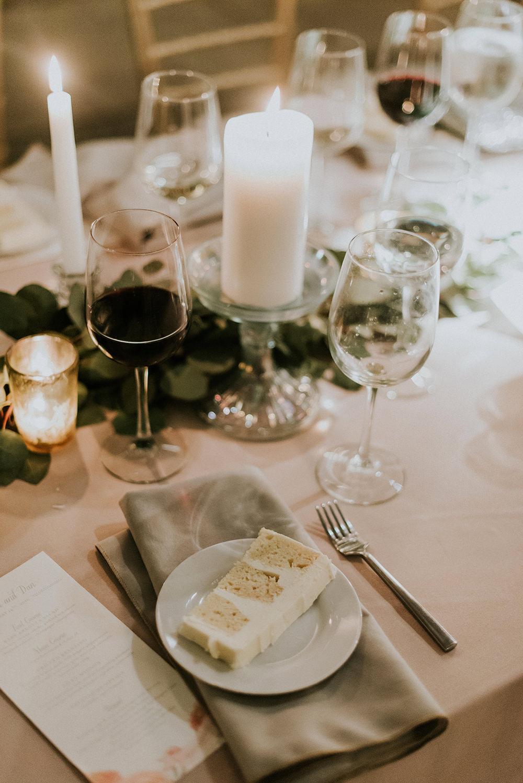 wedding cake - photo by M2 Photography http://ruffledblog.com/black-tie-philadelphia-wedding-with-a-boho-twist