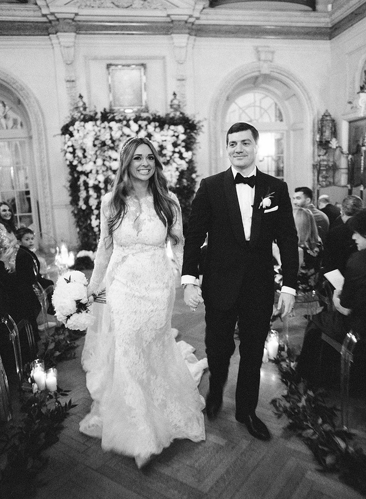 ceremony recessionals - photo by Lisa Blume Photography https://ruffledblog.com/black-tie-washington-dc-wedding-with-a-floral-wall