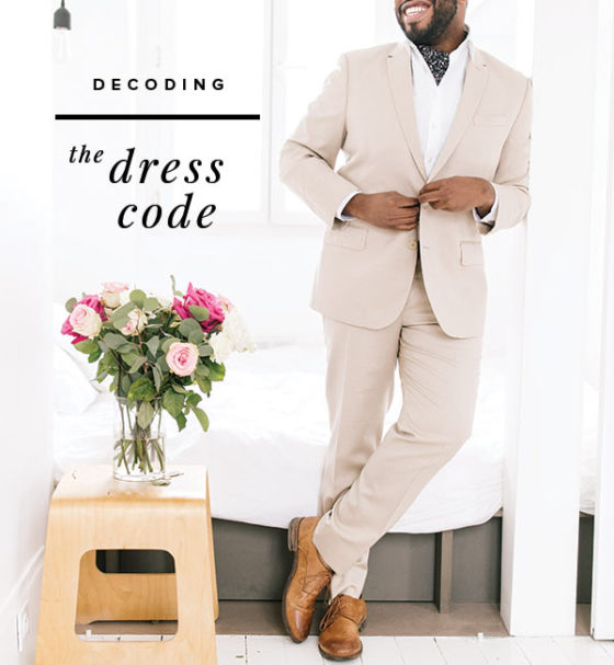 The Groom's Guide to Dress Codes + Cheatsheet!