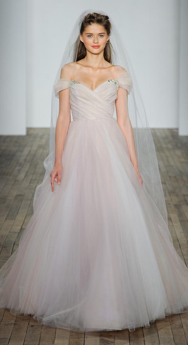 Lazaro Blush Wedding Dress 94 Fabulous These feminine and flowy