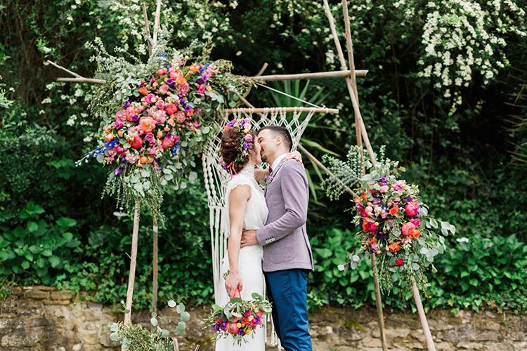 bohemian wedding ideas - photo by Passionate http://ruffledblog.com/bohemian-wedding-in-portugal-with-bright-flowers-everywhere