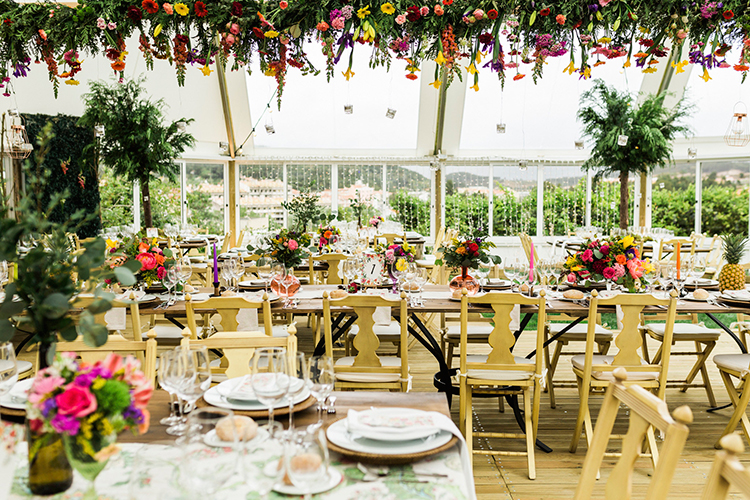 wedding inspiration - photo by Passionate http://ruffledblog.com/bohemian-wedding-in-portugal-with-bright-flowers-everywhere