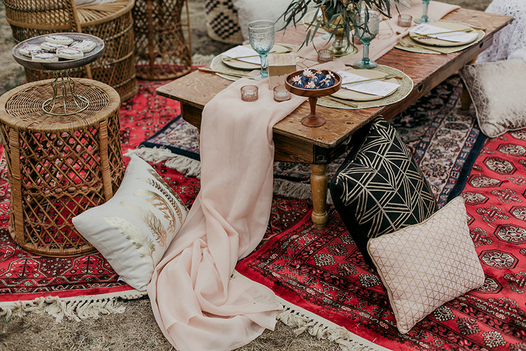 bohemian bridal shower ideas - photo by Sarah White Photography https://ruffledblog.com/boho-bridal-shower-inspiration-for-your-bride-tribe