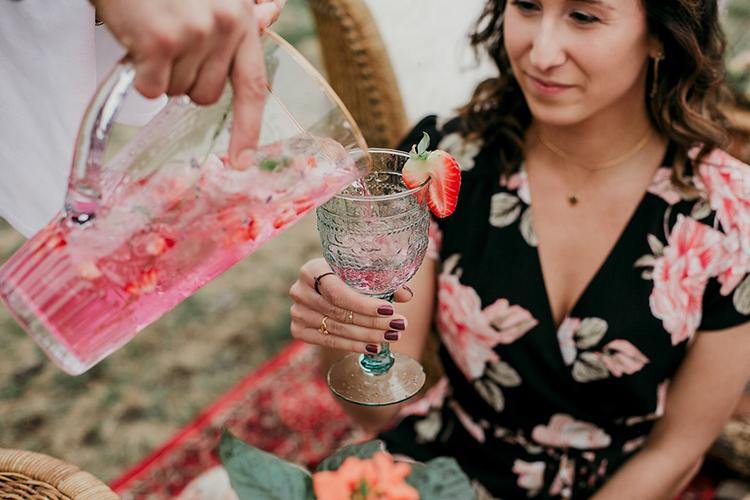 custom wedding drinks - photo by Sarah White Photography http://ruffledblog.com/boho-bridal-shower-inspiration-for-your-bride-tribe