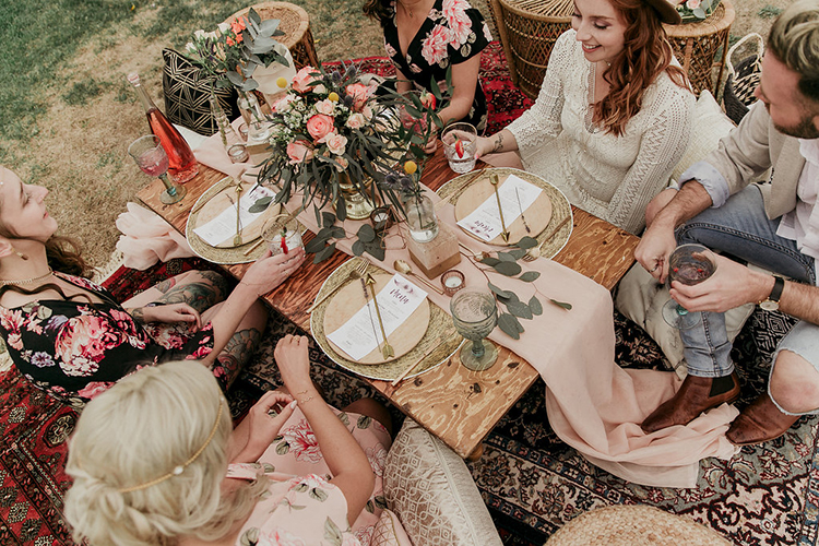 boho wedding receptions - photo by Sarah White Photography https://ruffledblog.com/boho-bridal-shower-inspiration-for-your-bride-tribe