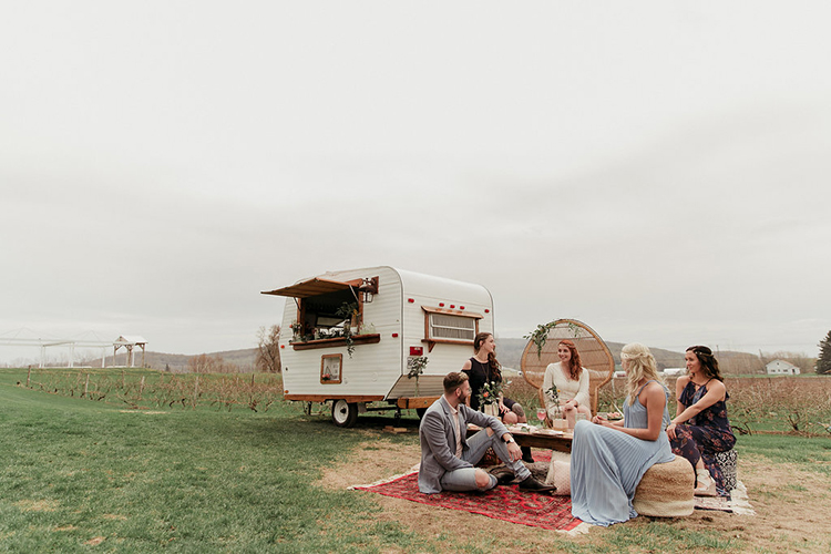 boho wedding inspiration - photo by Sarah White Photography https://ruffledblog.com/boho-bridal-shower-inspiration-for-your-bride-tribe