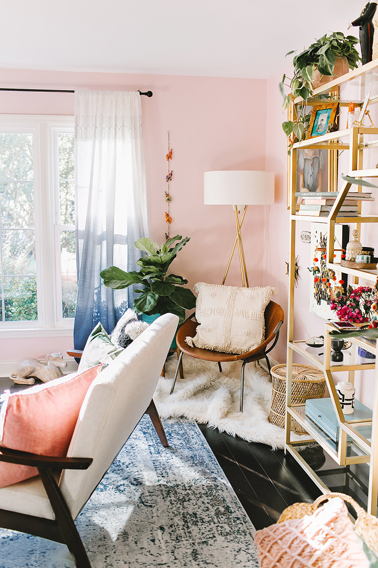 Boho Eclectic Living Room Makeover With Wayfair