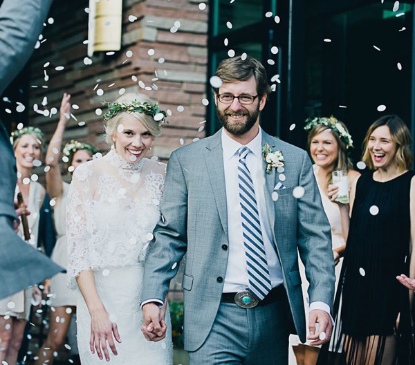 ceremony recessional - photo by Cyn Kain Photography https://ruffledblog.com/boho-glam-wedding-in-colorado