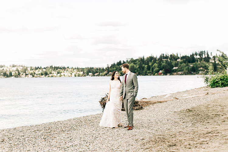 rocky beach wedding inspiration - photo by Jenna Bechtholt Photography http://ruffledblog.com/boho-pacific-northwest-forest-wedding-with-king-protea