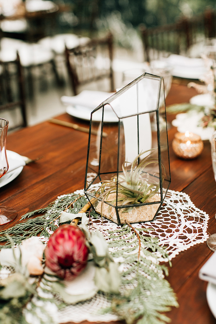 geometric wedding centerpiece ideas