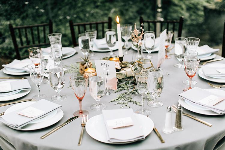 gray wedding inspiration - photo by Jenna Bechtholt Photography https://ruffledblog.com/boho-pacific-northwest-forest-wedding-with-king-protea