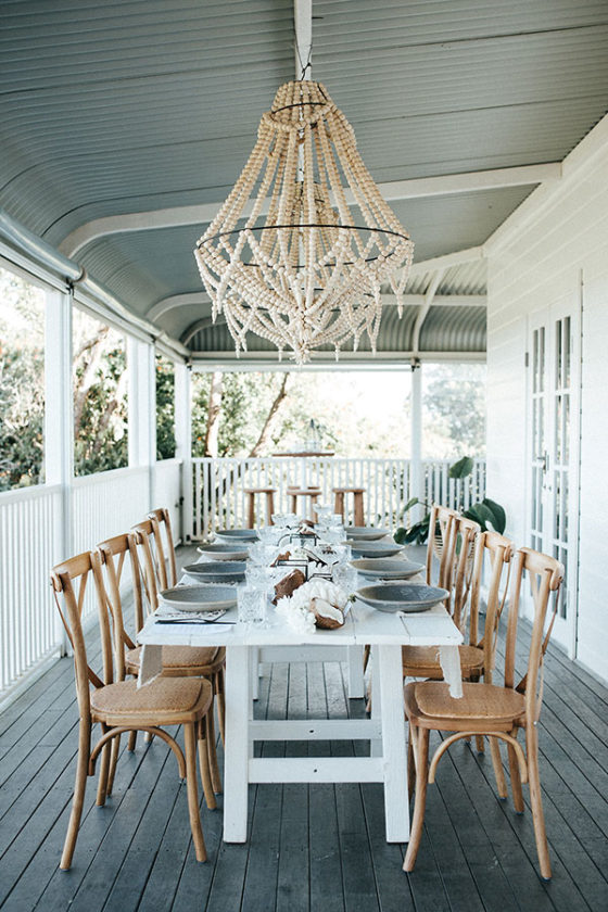 Summer Breeze Dinner Party with Coconuts and Coral