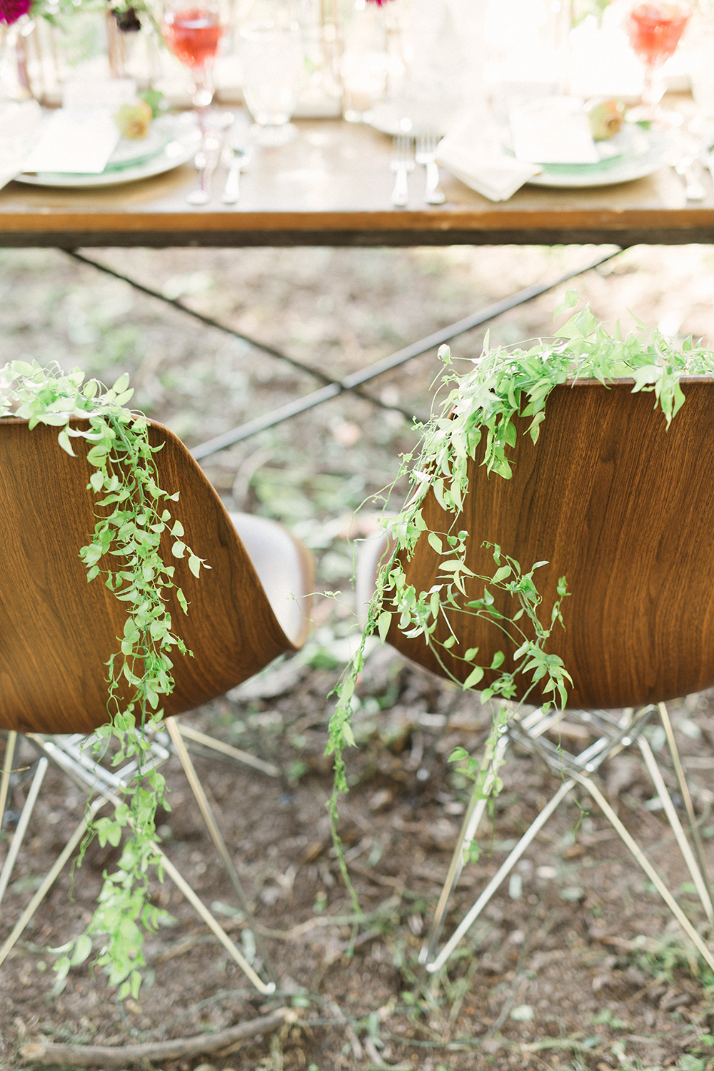 wedding chairs - photo by Gideon Photography http://ruffledblog.com/botanical-wedding-ideas-in-the-mountains-of-southern-utah