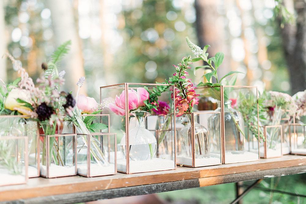 wedding table decor - photo by Gideon Photography http://ruffledblog.com/botanical-wedding-ideas-in-the-mountains-of-southern-utah