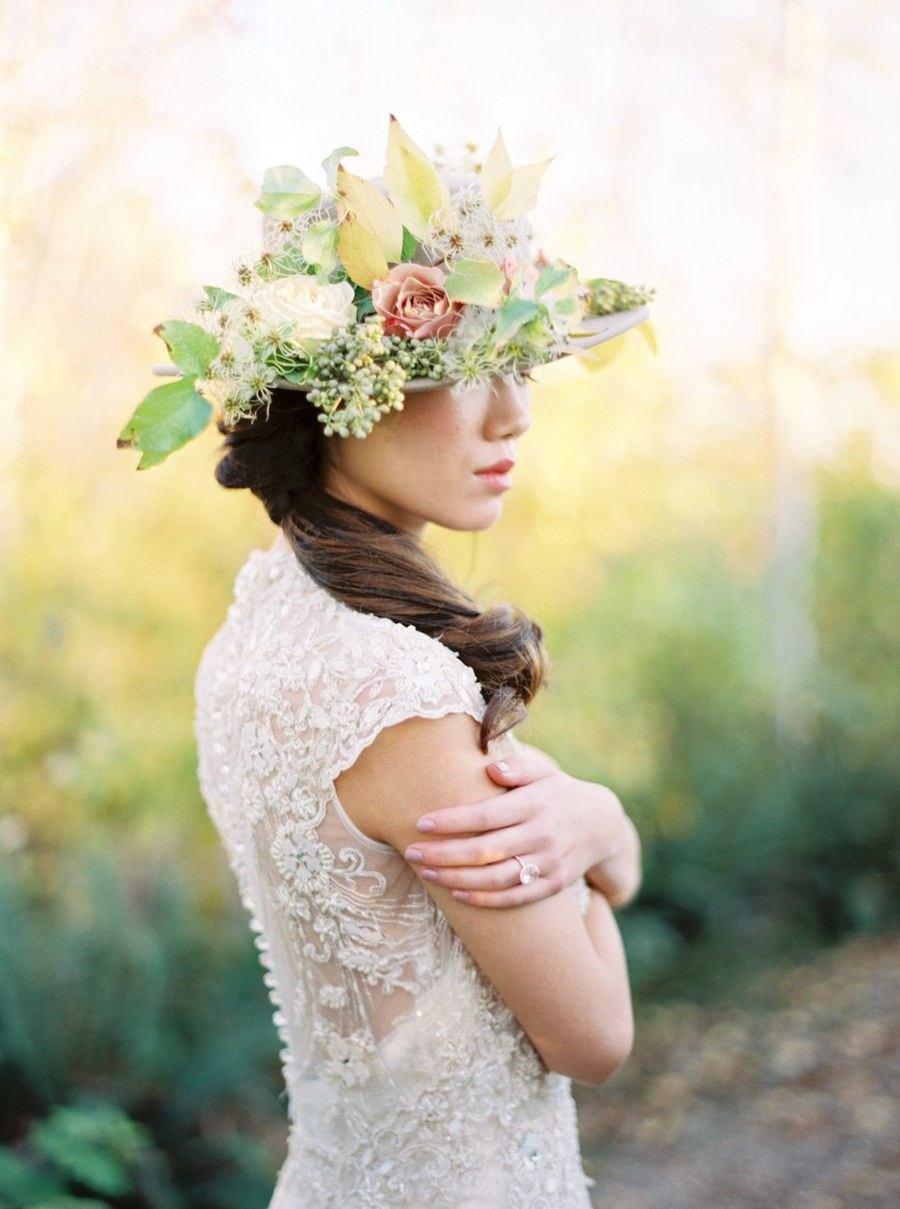 Bridal Hat Wedding Tiara Fine Art 01
