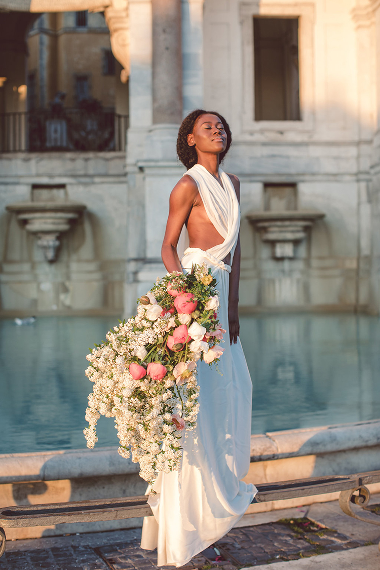 bridal portraits at sunrise - photo by Lilly Red Creative http://ruffledblog.com/bridal-portraits-during-a-roman-sunrise