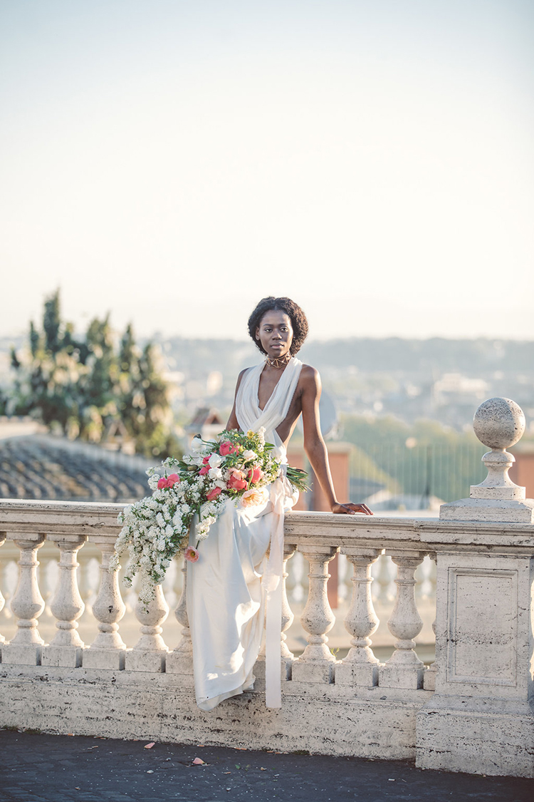 bridal portraits in Rome - photo by Lilly Red Creative http://ruffledblog.com/bridal-portraits-during-a-roman-sunrise