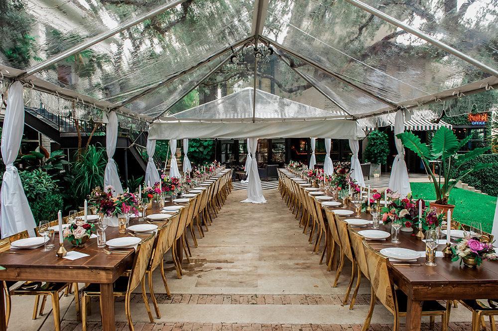 Hotel Saint Cecilia wedding venue - https://ruffledblog.com/bright-and-bold-austin-wedding photo Jennifer Lindberg